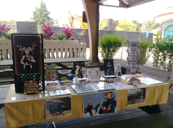 kennywood comicon artist alley table 2018
