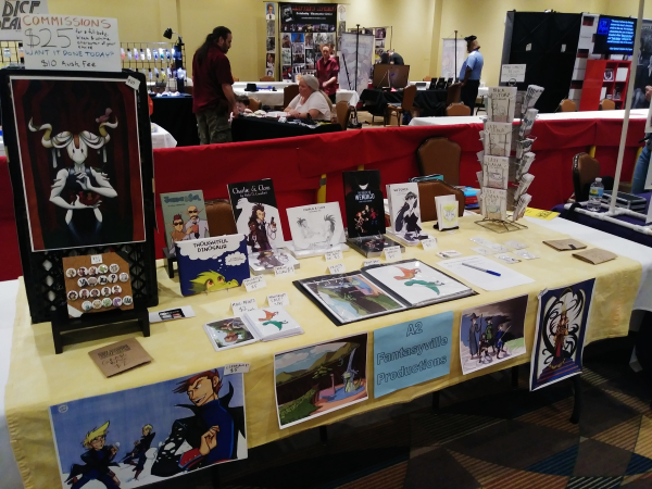 put n play con artist alley table layout