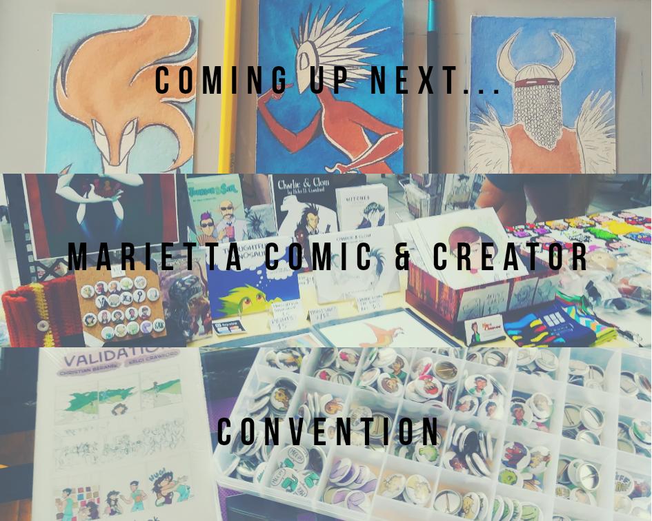 marietta comic and creator con announcement graphic