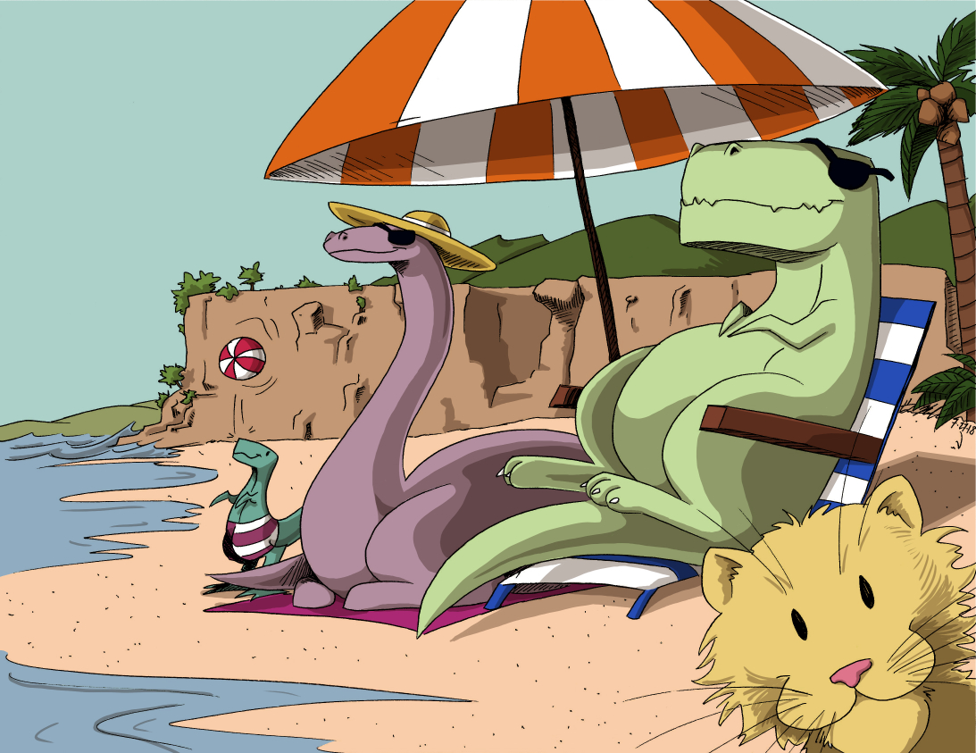 mr dino and friends beach