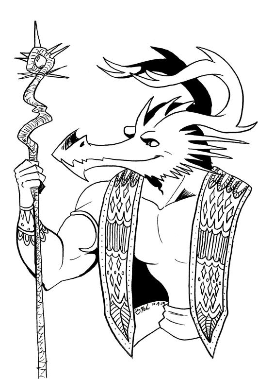 dragon fantasy art inktober 2019 sketch