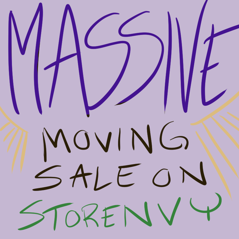may's massive moving sale on kelci d crawford's storenvy store
