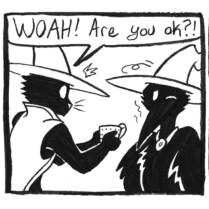 inktober 2021 comic panel