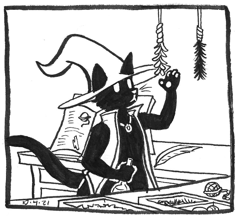 Inktober 2021 comics by kelci d crawford panel 5