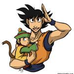 goku and gohan dragonball z